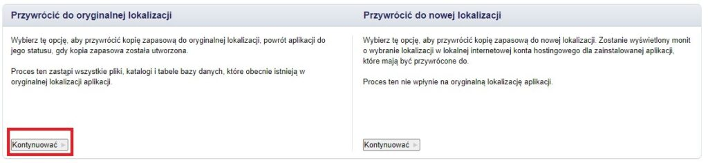 jak przywrócić kopię zapasową webd.pl
