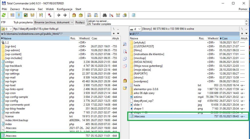 jak zwiększyć limit wrzucanego pliku wordpress htaccess total commander